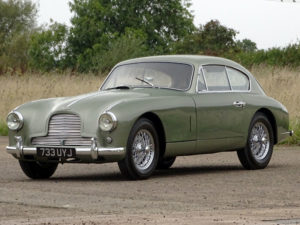1954 Aston Martin DB2/4 Saloon in California Sage is estimated to sell for £180000 – 220,000. (Lot 50)
