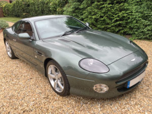 This 2003 Aston Martin DB7 V12 GTA is estimated to sell for £50,000 to £60,000.   (Lot 96)