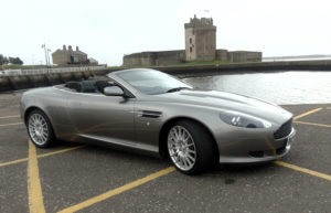 Lot No 55 2007 Aston Martin DB9 Volante in Gunmetal Grey is estimated to sell for £40,000 to £50,000.