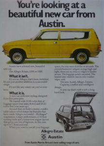 The arrival of all new Estate Allegro in 1975 celebrated the hatchback option