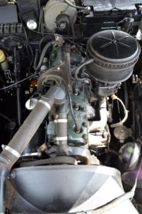 Six cylinder, 4086cc, four bearing crankshaft, alloy head; looked after Humber engines last for decades
