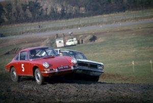 Vic Elford in the 911R in 1967 at Lydden Hill