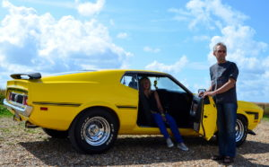 Alan and Becky love Stateside motors and that scene loves their Mach 1
