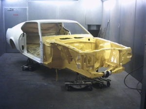 Prepare shell and the paint booth is calling