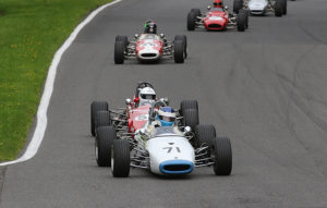 Historic F3 cars in action at Cadwell Park