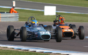 Historic Formula Ford action at Donington Park, April 2017