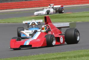 Neil Glover's Formula 5000 Chevron B37 features in the Derek Bell Trophy
