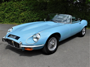 1971 Jaguar E-Type Series III V12 Roadster front angle-600px