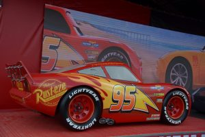 Lightening McQueen is available to meet fans at the FOS whilst preparing for another round of the Piston Cup
