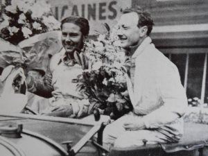 Woolf Barnato alongside Birkin celebrating Le Mans victory in 1929
