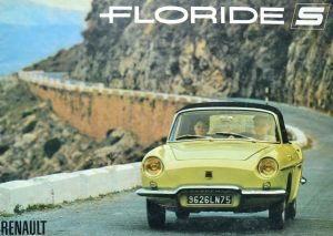 Typical French cool displayed on the brochure cover for the Floride S at the dawn of the swinging 60s