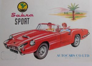 Autocars Sabra Sport 1963; Israeli badge Reliant built for the US market