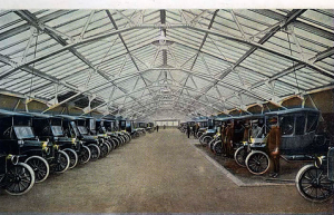 The Garage was the last port of call for Model T's completed prior to the 500-foot shipping platform able to accommodate 185 Model T's, the trains taking them on pulled 100 freight cars