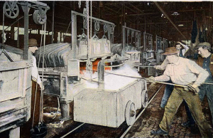 Ford promoted their 'Vanadium steel' which arrived with the early Model T's, designed for longevity, a heat treatment department was built at Highlands, new methods were sought by the mid-20s