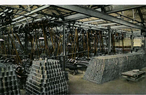 The piston machine shop was supplying at seven seconds per unit to fit inside the iron blocks cut out by a milling machine that dealt with three engines in each operation