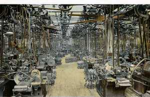 The crankshaft grinding department, complete with their share of the 50 miles of belts required to drive the heavy machines producing a perfect example every 30 seconds to keep up with production