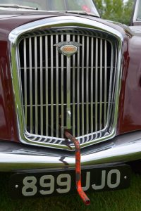 A section of grille opens to accommodate a starting handle and the famous Wolseley badge illuminates