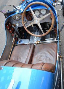 Bugatti Type 35 cockpit