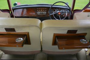 The superb replacement interior was supplied by a banger racer, the only part of the donor Vanden Plas to survive