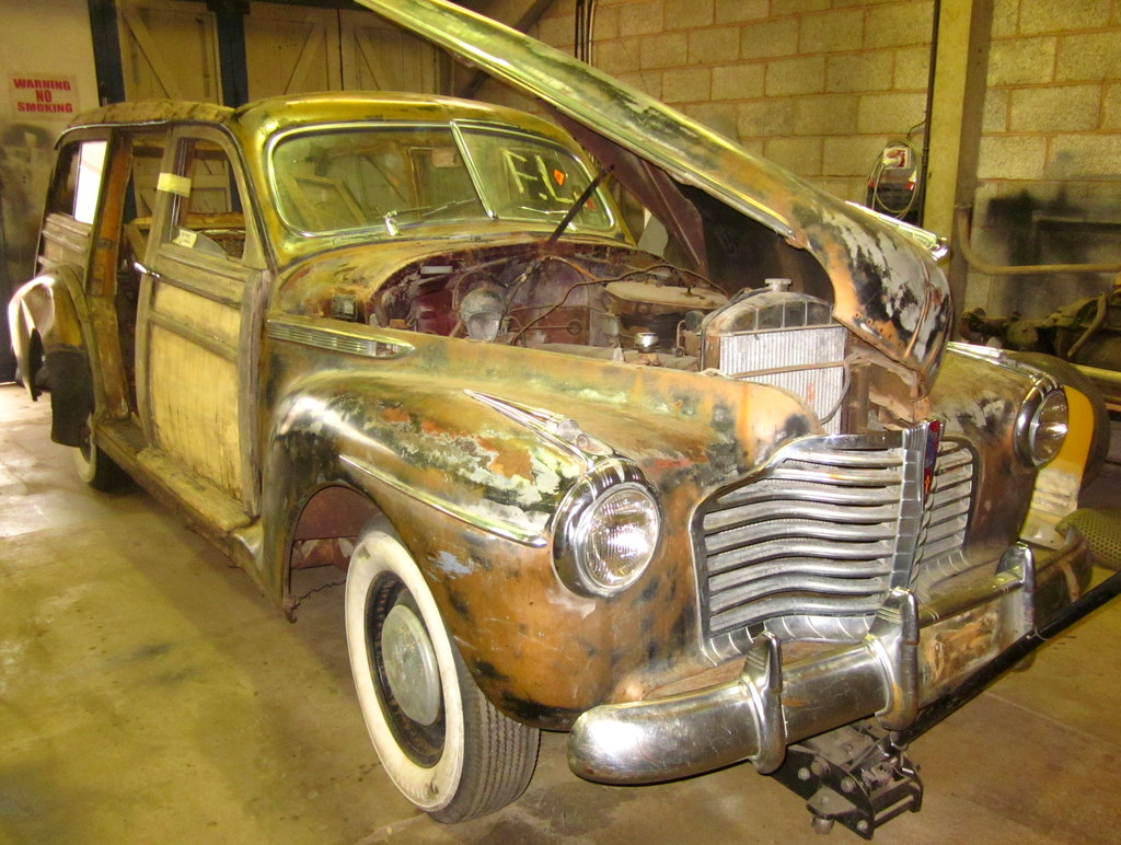 Sun bleached, dented, rust with rotten wood the epic began here Buick's ...