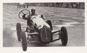 1946 Coppa Brezzi in Turin, he and his Cisitalia led at the end of the first lap then the steering wheel came off in his hands...still got back to the pits