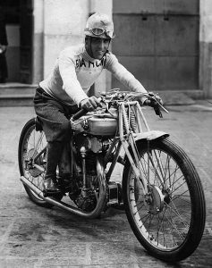 Nuvolari a young Bianchi works rider