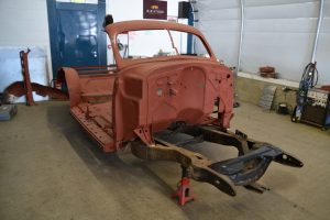 Timber removed with chassis in situ the body enjoyed some fresh metal