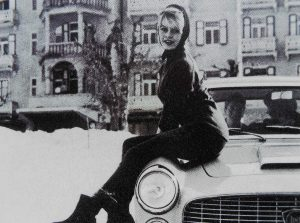 Brigitte Bardot enjoyed many stylish motor cars including this Pininfarina bodied Flaminia Coupe during the 1960s