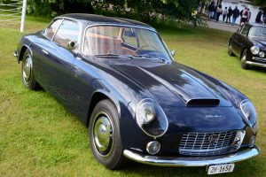 The 1959 Flaminia 2500 Zagato Sport, the first Italian car to enjoy disc brakes and tinted glass, note the unique double bubble roof specific to this design house adding strength to the all alloy body
