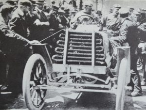 Londoner Charles Jarrot 70hp Panhard, one of 13 entered later became founder member of the AA
