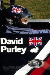 After a 'spat' with Niki Lauda a rabbit image adorned Purley's car