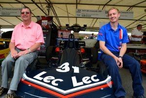 Brian Smith first built chassis no2 at LEC in Bognor alongside the man who rebuilt it Chris Davies of WDK motorsport