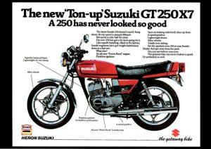 Official Suzuki GT250 X7 advert