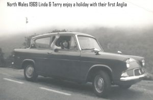 North Wales 1969 - Linda and Terry enjoy a holiday with their first Anglia