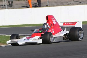 The Lola T400 used by Michael Lyons to win this year's Derek Bell Trophy