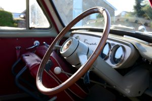 Ford 100E Escort engine dashboard