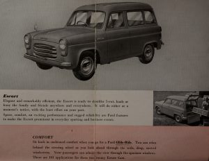 Original Ford 100E Escort Estate brochure