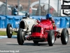 Simon Edwards in a Maserati 4CM at the start of the Wheatcroft Straight during the HGPCA Nuvolari Trophy (race 1)
