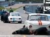 Pit crews called into action during the U2TC pre-66 under 2 litre Touring Car race