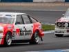 #75 BMW 3.0 CSL chases #27 Rover SDI through Redgate
