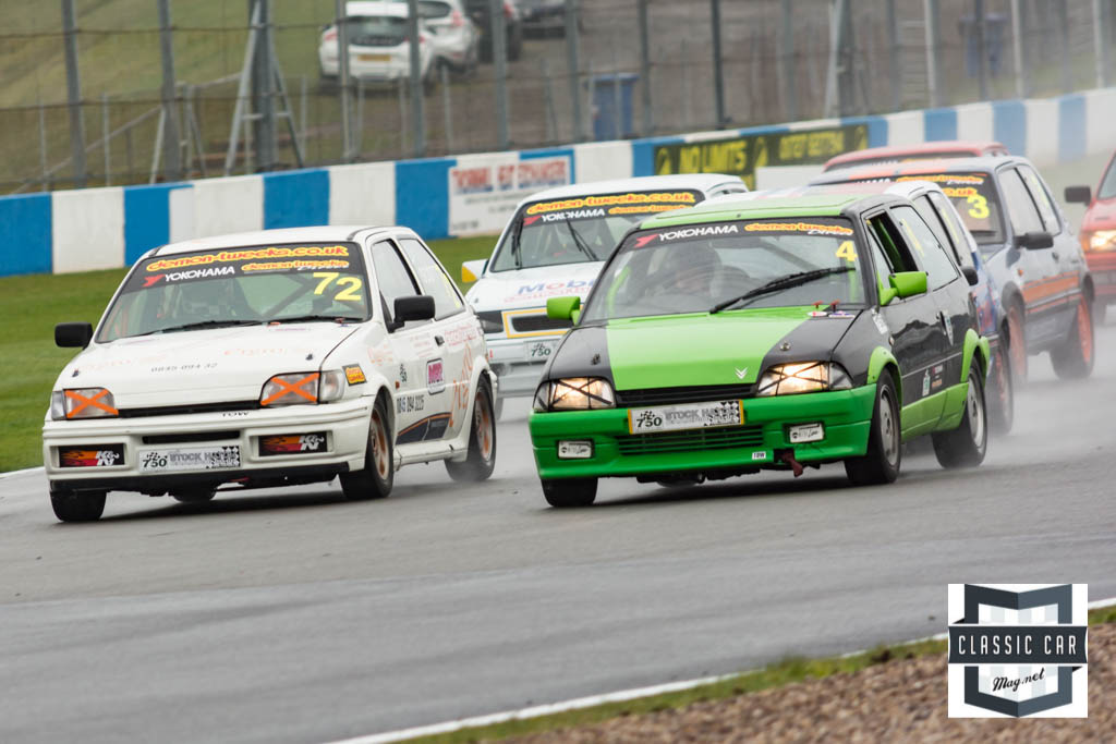 #4 A.Thorpe - Citroen AXGTi leads the charge into the first corner
