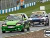 #4 A.Thorpe - Citroen AX GTi leads #1 M.Rozzier - Peugeot 205 GTi