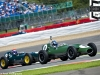 Roger WILLS (car 9) and Philip WALKER (car 1) in Lotus 16's