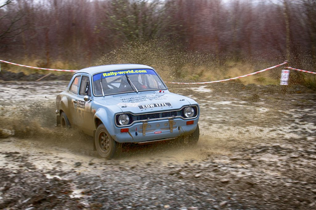 Mk1 Ford Escort at the Roger Albert Clark Rally 2012 - Stage 19